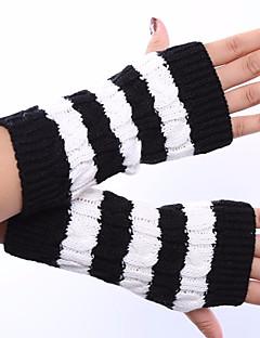 Women's Acrylic Wrist Length Half Finger,Winter Gloves Solid Spring/Fall Winter