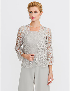 cheap Wedding Wraps-3/4 Length Sleeves Lace Wedding Party / Evening Women's Wrap With Lace Shrugs