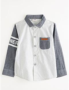 billige Overdele til drenge-Drenge Skjorte Prikker, Bomuld Efterår Langærmet Grå