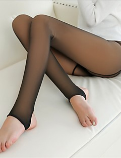 Dame Solid Fleecefôret Tights