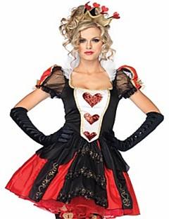 billige Halloweenkostymer-hjerterdronning Kjoler Maskerade Dame Halloween Karneval Oktoberfest Festival / høytid Halloween-kostymer Rød Helfarge Mote