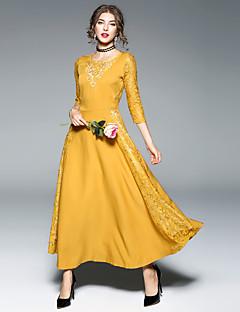 cheap MAXLINDY-MAXLINDY Women's A Line Dress - Patchwork, Lace Maxi