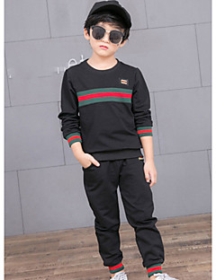 Boys' Striped Clothing Set,Cotton Spring Fall Black Red