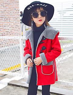 お買い得  子供用ファッション-女の子 ソリッド コットン ダウン&コットンキルティング 長袖 ピンク フクシャ ワイン アーミーグリーン