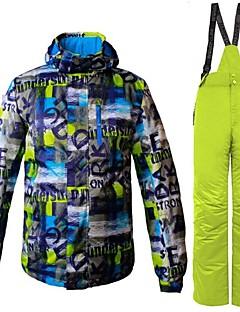 Heren Ski-jack & broek Warm Ventilatie Winddicht Draagbaar waterbestendig Wandelen Meerdere Sporten Wintersporten Freeride Sneeuwsporten