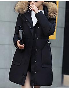 Damen Gefüttert Mantel,Standard Street Schick Ausgehen Solide-Polyester Polypropylen Langarm