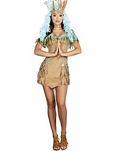 Cleopatra Cosplay Kostumer Kvinnelig Halloween Karneval Oktoberfest Festival/høytid Halloween-kostymer Gul Ensfarget Vintage