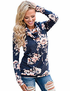 Women's To-Go Sweatshirt Print High-Neck Stretchy Polyester Long Sleeve Fall