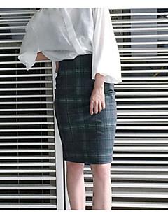 저렴한 -여성 데이트 무릎길이 스커트 스프링 겨울 컬러 블럭