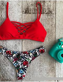 preiswerte -Damen Bikinis - Floral Polyester Halfter