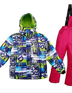 billiga Skid- och snowboardkläder-Flickor / Pojkar Skidjacka och -byxor Varm, Ventilerande, Vindtät Skidåkning / Multisport / Vintersport Polyester, Mesh Klädesset