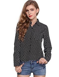 cheap Women's Tops-Women's Polyester Blouse - Polka Dot V Neck