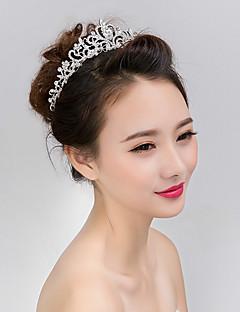 billige Trendy hårsmykker-Dame Formell Stil Asiatisk Klassisk Stil Hårbånd,Alle årstider Rhinstein Imitert Perle Imitert Perle Sølv