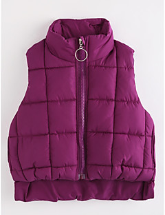 cheap Girls' Clothing-Girls' Solid Vest, Cotton Purple