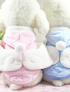 billiga Hundkläder-Katt Hund Kappor Huvtröjor Hundkläder Ängel & Djävul Blå Rosa Flanelltyg Kostym För husdjur Ledigt/vardag Håller värmen