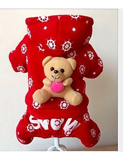 abordables -Chien Combinaison-pantalon Vêtements pour Chien Respirable Décontracté / Quotidien Formes Géométriques Rouge Costume Pour les animaux