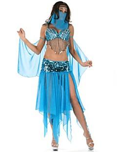 Etnisk/Spirituell Drakter Kvinnelig Halloween Jul Festival/høytid Halloween-kostymer Blå