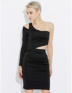 tanie AW 18 Trends-Damskie Bodycon Sukienka - Solid Color Na jedno ramię