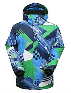 billiga Skid- och snowboardkläder-GSOU SNOW Herr Skidjacka Varm, Vattentät, Vindtät Skidåkning Miljövänlig Polyester, Silkesplagg Dunjackor Skidkläder