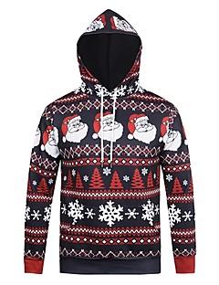 billige julen Kostymer-Snømann julenissen Hattetrøje Herre Dame Jul Festival / høytid polyester Drakter Svart Stripet