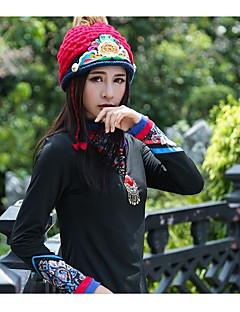 billige Vintertilbehør-Unisex Aktiv Beanie Hatt - Vintage Stil, Blomstret / Natur Polyester / Vinter