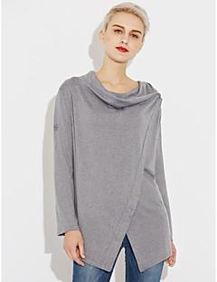 baratos Suéteres de Mulher-Mulheres Moda de Rua Algodão Carregam - Sólido Algodão