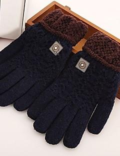 Men's Knitwear Wrist Length Fingertips,Work Casual Solid Color Winter