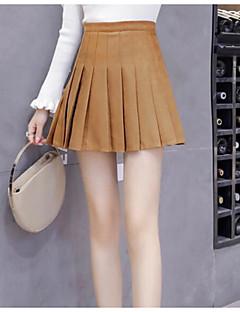 cheap Women's Skirts-Women's Basic Chic & Modern Skirt Skirts - Solid Color High Waist