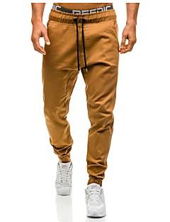 billige Herrebukser og -shorts-Herre Store størrelser Skinny Harem Bukser - Uthult, Ensfarget