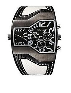 billige Læder-Herre Quartz Armbåndsur Termometer / Kompas Læder Bånd Afslappet / Mode