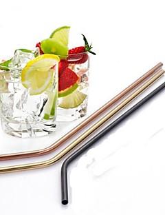 baratos Acessórios de Drinkware-Aço Inoxidável Canudinhos Portátil Café Leite Suco Copos