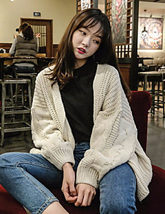 baratos Suéteres de Mulher-Mulheres Manga Longa Carregam - Sólido