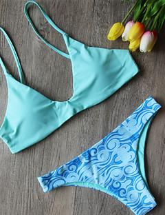 Dame Bikinikjole Trykt mønster
