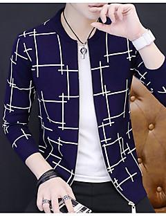 baratos Suéteres & Cardigans Masculinos-Homens Lã Carregam - Sólido Lã