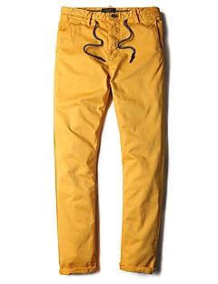 Herren Einfach Mittlere Hüfthöhe Mikro-elastisch Hosen Hosen Hose Solide