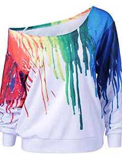 baratos Moletons com Capuz e Sem Capuz Femininos-Mulheres Calças - camuflagem Branco XL / Para Noite / Sexy