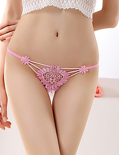 Women's Floral Embroidered G-strings & Thongs Panties Ultra Sexy Panties Spandex