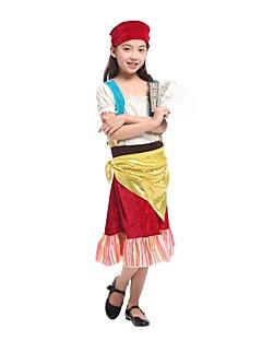 Schattig Princes Meisjes Outfits Cosplay Rood Kap Korte mouw Mid Dij