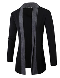 Normal Cardigan Dagligdagstøy Enkel Herre,Stripet V-hals Langermet Polyester Høst Medium Elastisk