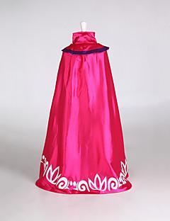billige Halloweenkostymer-Prinsesse Eventyr Elsa Kappe Jul Maskerade Festival / høytid Halloween-kostymer Drakter Rød Fargeblokk Dekke Opp Bedårende