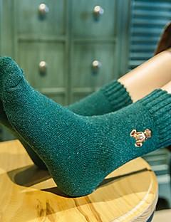 billige Sokker og strømper til damer-Dame Sokker-Ensfarget,Broderi Ultravarm