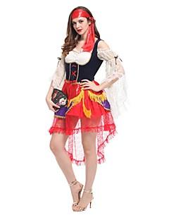 Schattig Princes Vrouwelijk Outfits Cosplay Rood Kap Korte mouw Mid Dij