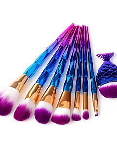 cheap Makeup Brush Sets-8pcs Makeup Brush Set Synthetic Hair Pony Eco-friendly Professional Soft Synthetic Resin Eye Face Nose