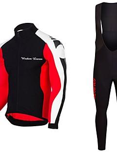 olcso -Wisdom Leaves Kerékpáros dzsörzé kantáros nadrággal Uniszex Hosszú ujj Bike Dzsörzé Ruházati kollekciók Kerékpáros ruházat Gyors szárítás
