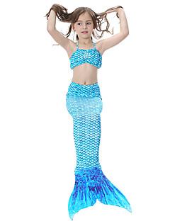 povoljno -The Little Mermaid Bikini Kupaći kostimi Dječji Božić Maškare Festival / Praznik Halloween kostime Duga Zelen Plava Fuschia Jednobojni