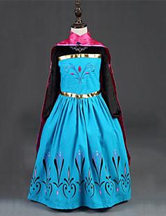 billige Halloweenkostymer-Prinsesse / Eventyr / Anna Kjoler / Kappe Jul / Maskerade Festival / høytid Halloween-kostymer Rød Fargeblokk Kjoler / Dekke Opp Bedårende