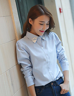 cheap Women's Tops-Women's Cotton Shirt - Solid Colored