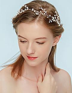 levne Módní vlasové ozdoby-Dámské Klasika Imitace perly Čelenka