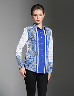 cheap Women's Tops-Women's Work Casual Chinoiserie Shirt Print Shirt Collar