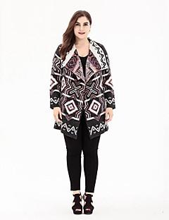 tanie Swetry damskie-Damskie Vintage Kołnierzyk koszuli Rozpinany Geometryczny Długi rękaw